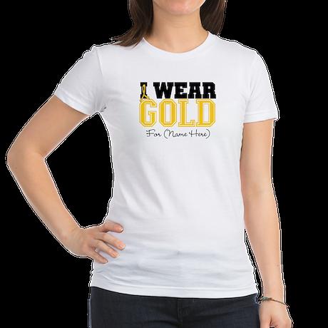 Custom Childhood Cancer Jr. Jersey T-Shirt