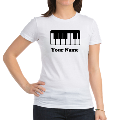 Personalized Piano Keyboard Jr. Jersey T-Shirt