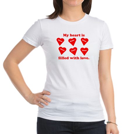 Personalized My Heart Filled Jr. Jersey T-Shirt