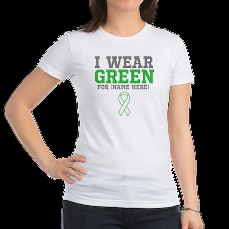 Custom I Wear Green Ribbon Jr. Jersey T-Shirt