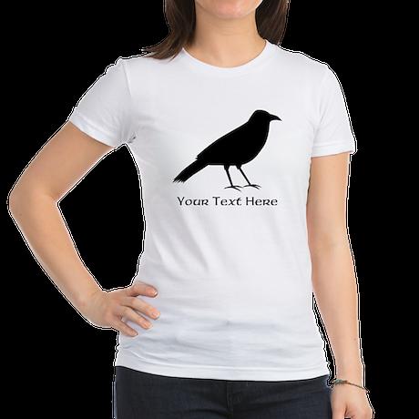Crow and Custom Black Text. Jr. Jersey T-Shirt