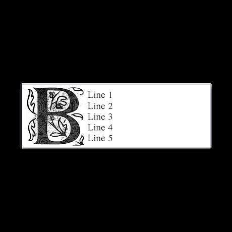 Fancy Monogram B Return Address Labels