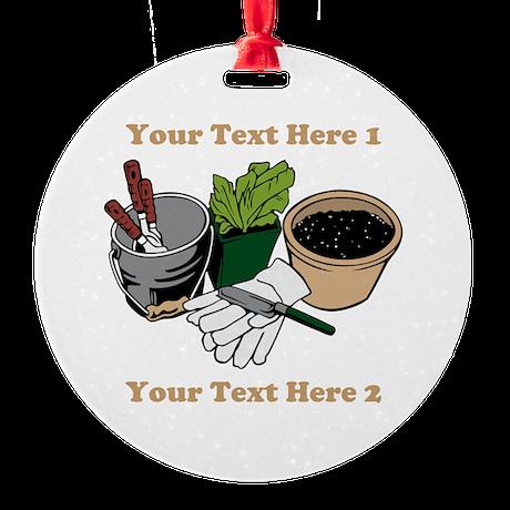 Gardening. Custom Text Ornament (Round)