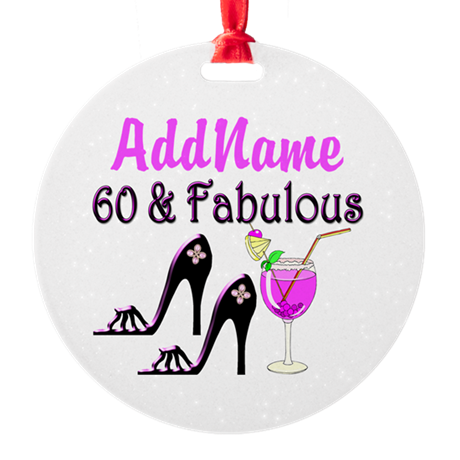 60TH PARTY Round Ornament