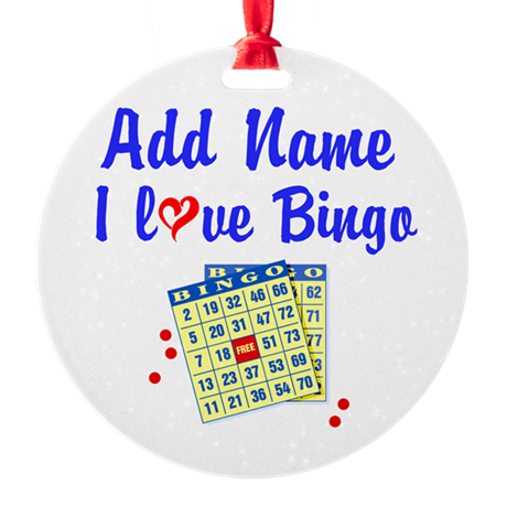 BINGO QUEEN Round Ornament