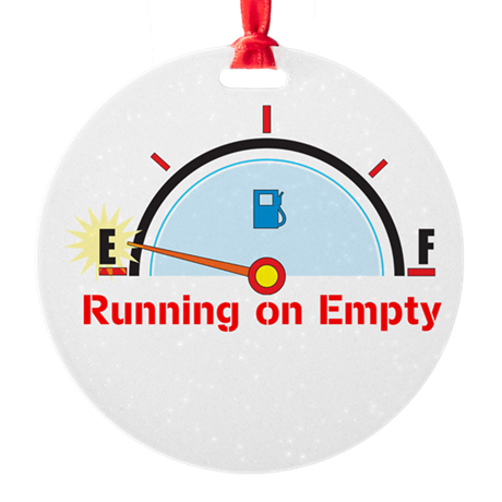 Running on Empty Ornament (Round)