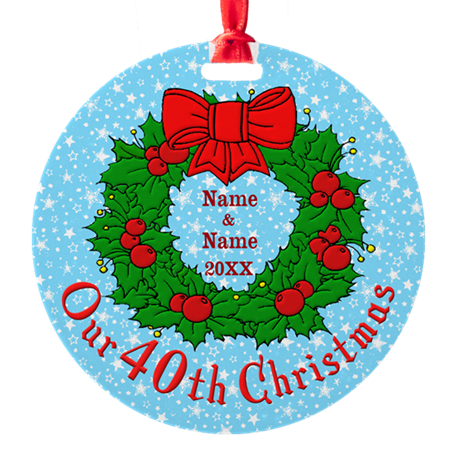 Our 40th Christmas Ornament