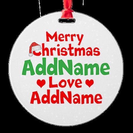 Merry Christmas Love Ornament