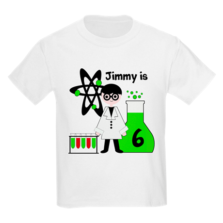 Boy All About Science Custom Kids Light T-Shirt