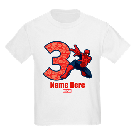 Personalized Spider-Man Birthday Kid's Tee