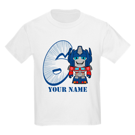 Personalized 6 Optimus Prime T-shirt