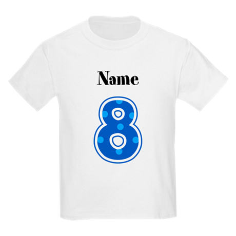 Personalized 8 Kids T Shirt By Playtimeandparty