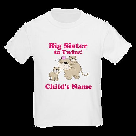 Big Sister to twins Kids Light T-Shirt