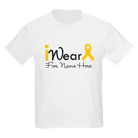 Personalize Childhood Cancer Kids Light T-Shirt