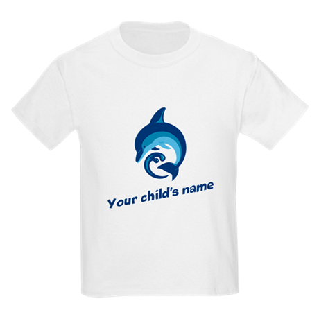 Dolphin Personalized Kids Light T-Shirt