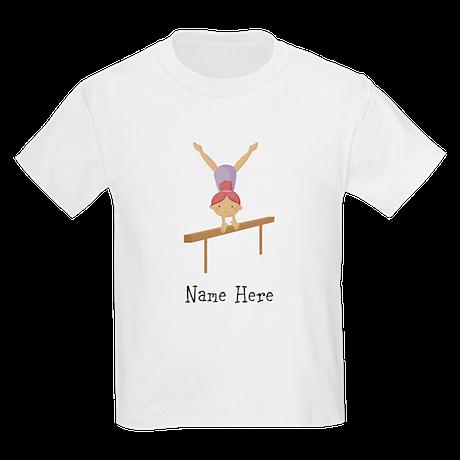 gymnast on beam Kids Light T-Shirt