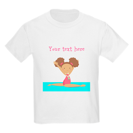 Brown haired gymnast Kids Light T-Shirt
