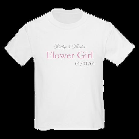 Custom Flower Girl Kids Light T-Shirt