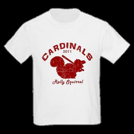 Cardinals Rally Squirrel Kids Light T-Shirt