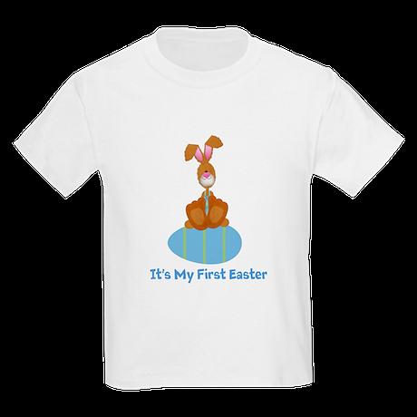 Customizable 1st Easter (blue Kids Light T-Shirt