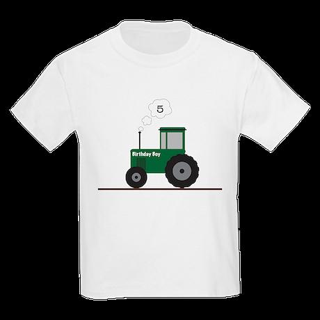 Tractor Birthday! Kids Light T-Shirt