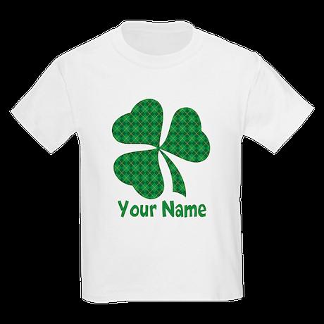 Personalized Irish Shamrock Kids Light T-Shirt