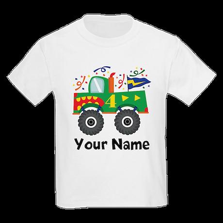 Personalized 4th Birthday Monster Truck Kids Light