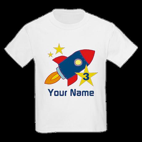 3rd Birthday Rocket Kids Light T-Shirt