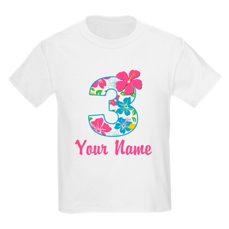 3rd Birthday Tropical Kids Light T-Shirt