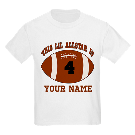 4th Birthday Football Kids Light T-Shirt