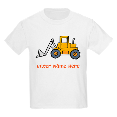 Personalized Loader Kids Light T-Shirt