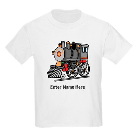 Personalized Train Engine Kids Light T-Shirt