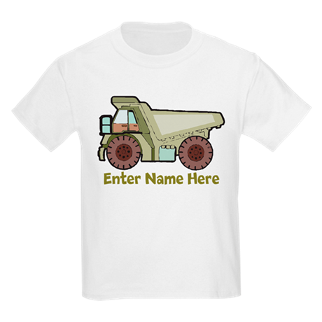 Personalized Dump Truck Kids Light T-Shirt
