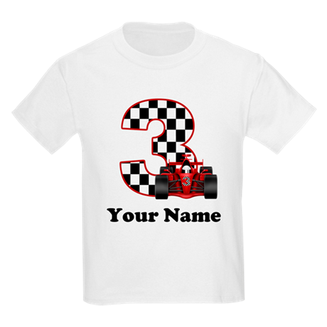 3rd Birthday Race Car Kids Light T-Shirt