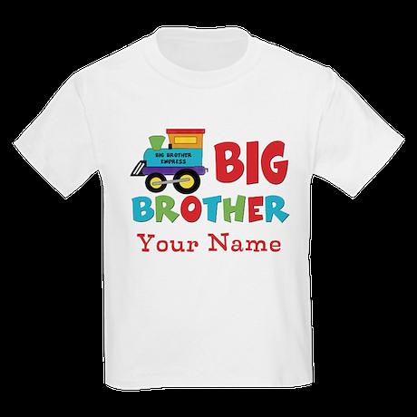 Big Brother Train Personalized Kids Light T-Shirt