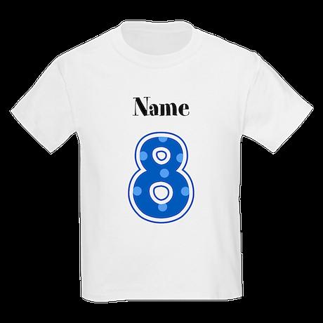Personalized 8 Kids T-Shirt