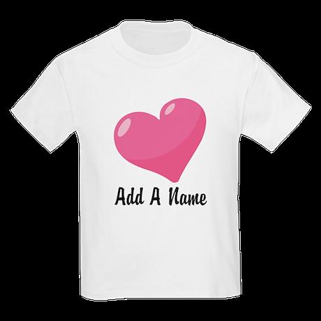 Pink Candy Heart Kids Light T-Shirt