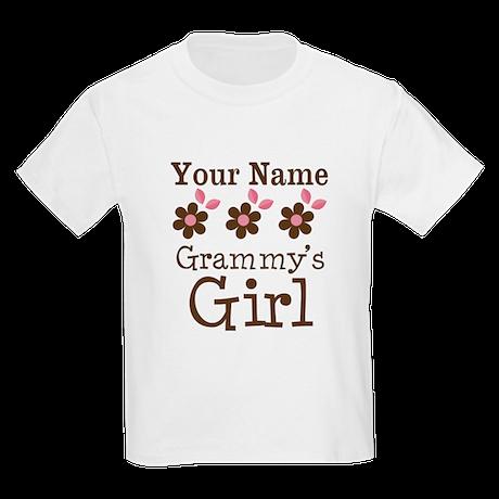 Personalized Grammy's Girl Kids Light T-Shirt