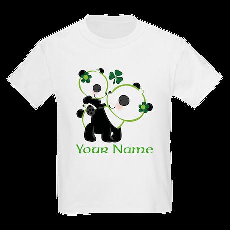Personalized Irish Panda Kids Light T-Shirt