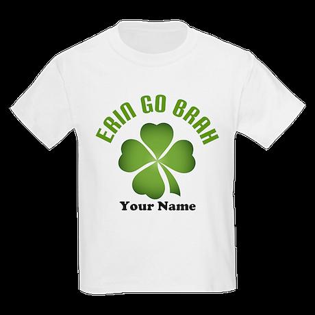 Personalized Erin Go Brah Clover Kids Light T-Shir