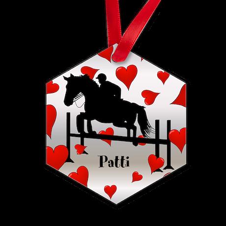 Fun Horse Jumper and Hearts Ornament