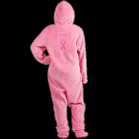 Pink Ribbon Breast Cancer Awareness Footed Pajamas