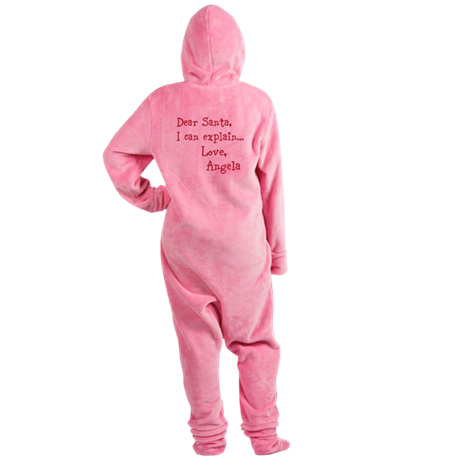 Dear Santa Custom Footed Pajamas