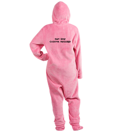 Two Line Custom Message Footed Pajamas