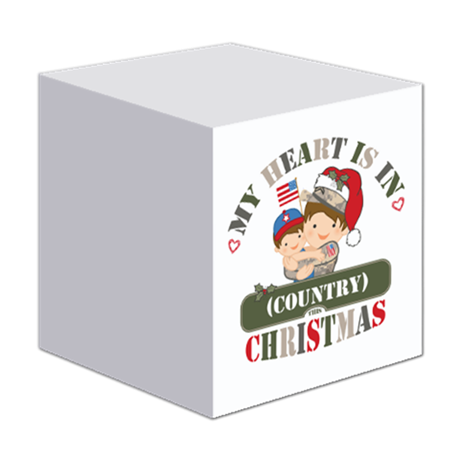 Christmas Soldier Dad/Mom Sticky Notepad