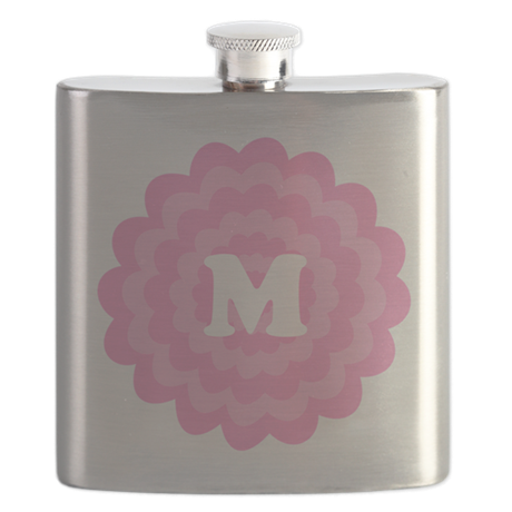 Your Letter on Pink Flower. Flask
