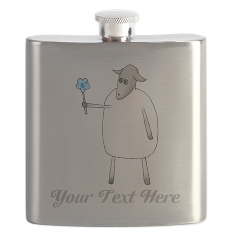 Sheep and Custom Text. Flask