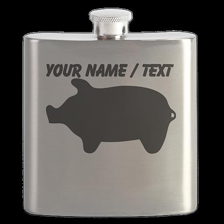 Custom Piggy Silhouette Flask