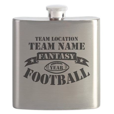 Personalized Fantasy Blk Flask