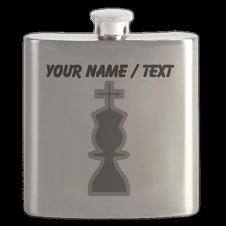 Custom Chess King Flask